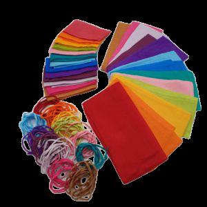 13 regenboog- chakra kleuren, zijde