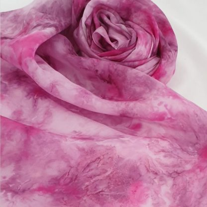 BlueBerry, handgeschilderde zijden sjaal (1)