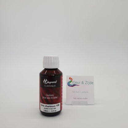 Gris chartreux 106, Dupont acid dyes, Kleur en Zijde