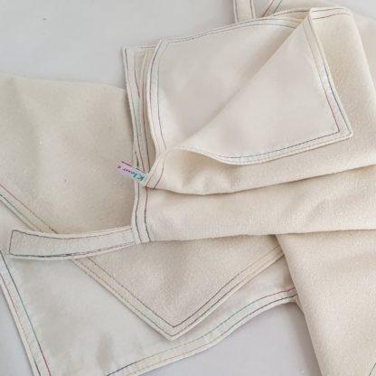 Knuffeldoekjes, dubbeldoek in zijde