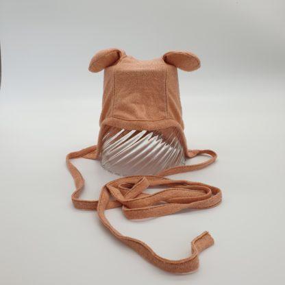 KleintjeBruin , zijden strikmutsje met oortjes
