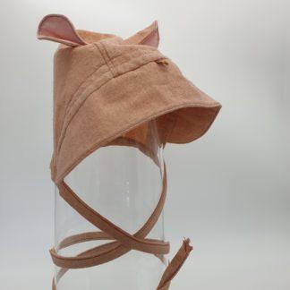 ZachBruin, zijden bonnet met oortjes (4)