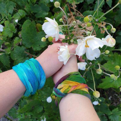 Zijden armband- ketting- haarband (2)
