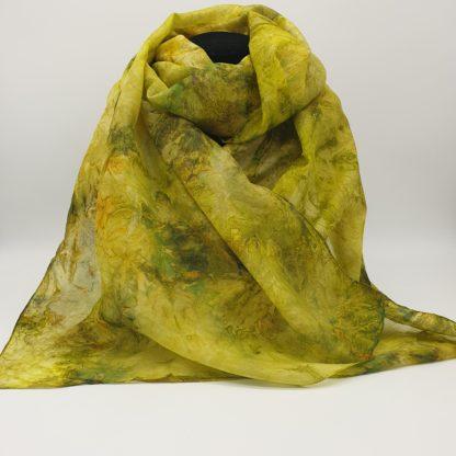 Vrij!, handgeschilderde zijden sjaal, 180x45 cm