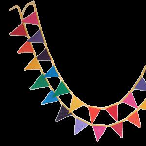 Feestslingers-regenboog