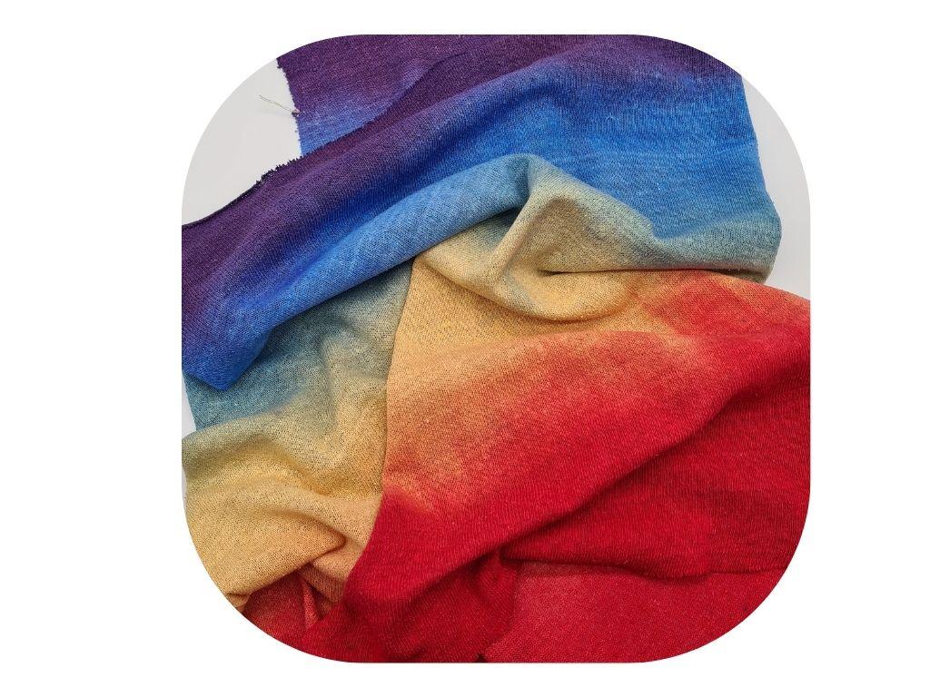 Regenboog, kleur en zijde mix